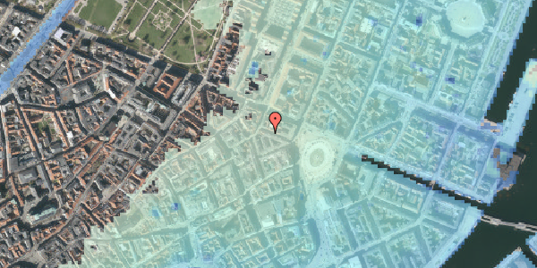 Stomflod og havvand på Ny Adelgade 5, 2. tv, 1104 København K