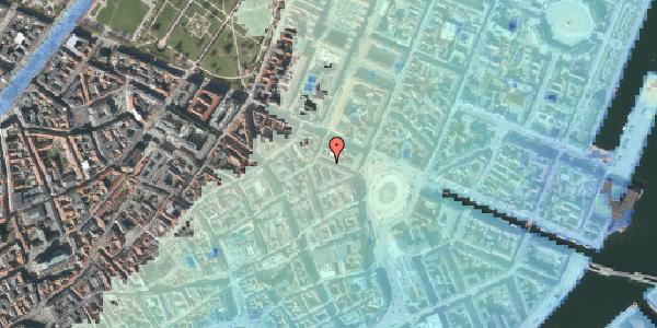 Stomflod og havvand på Ny Adelgade 5, 3. tv, 1104 København K