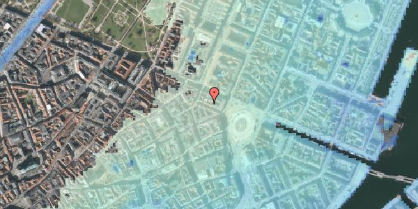 Stomflod og havvand på Ny Adelgade 6, kl. , 1104 København K