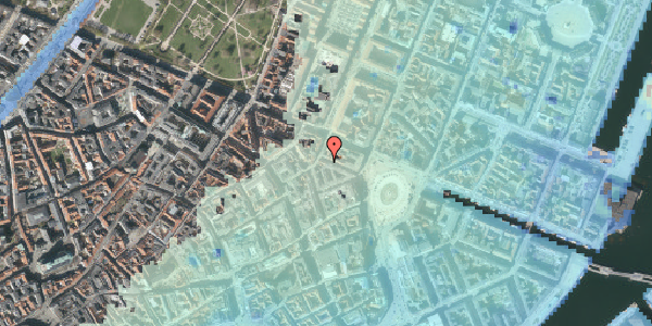 Stomflod og havvand på Ny Adelgade 7, 1. , 1104 København K