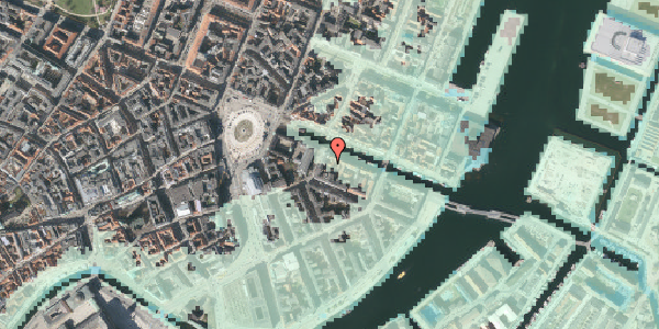 Stomflod og havvand på Nyhavn 6A, 1051 København K