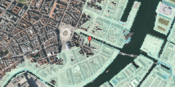Stomflod og havvand på Nyhavn 6B, 1051 København K
