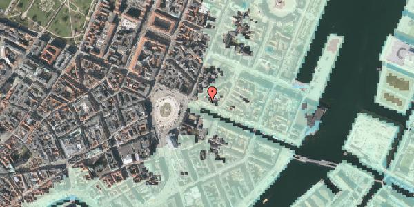Stomflod og havvand på Nyhavn 7, kl. , 1051 København K