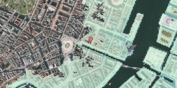 Stomflod og havvand på Nyhavn 15, kl. , 1051 København K