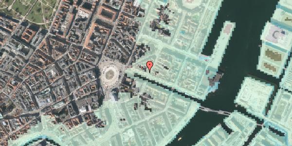 Stomflod og havvand på Nyhavn 17, kl. tv, 1051 København K