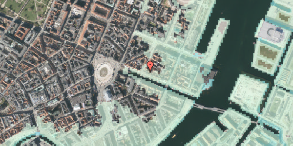 Stomflod og havvand på Nyhavn 23, st. , 1051 København K