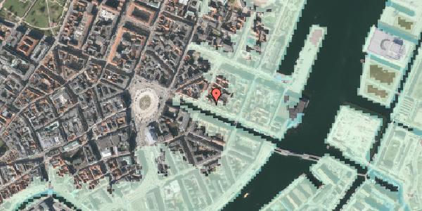 Stomflod og havvand på Nyhavn 27, st. , 1051 København K