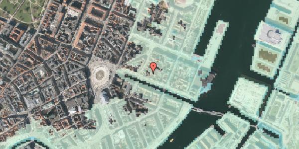 Stomflod og havvand på Nyhavn 31B, 4. tv, 1051 København K