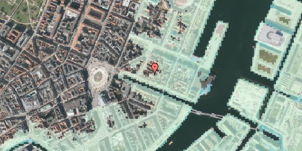 Stomflod og havvand på Nyhavn 31C, kl. , 1051 København K