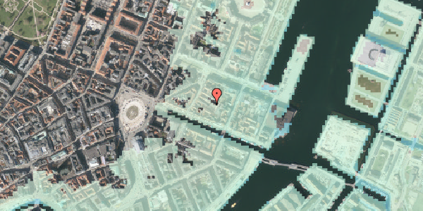 Stomflod og havvand på Nyhavn 31E, st. , 1051 København K