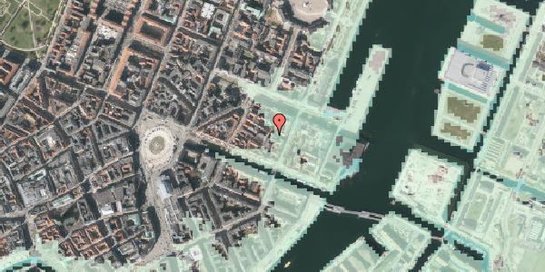 Stomflod og havvand på Nyhavn 31F, kl. 49, 1051 København K