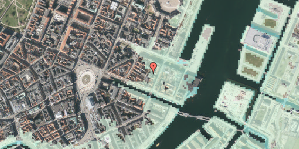 Stomflod og havvand på Nyhavn 31F, 1. tv, 1051 København K
