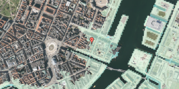 Stomflod og havvand på Nyhavn 31F, 4. th, 1051 København K