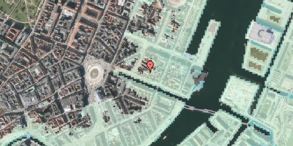 Stomflod og havvand på Nyhavn 31J, kl. , 1051 København K