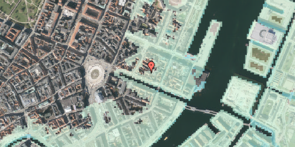 Stomflod og havvand på Nyhavn 31J, 4. , 1051 København K