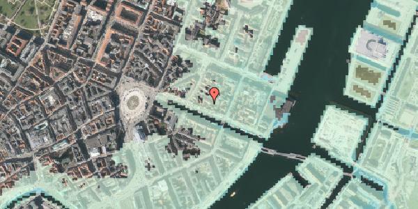 Stomflod og havvand på Nyhavn 31K, kl. , 1051 København K