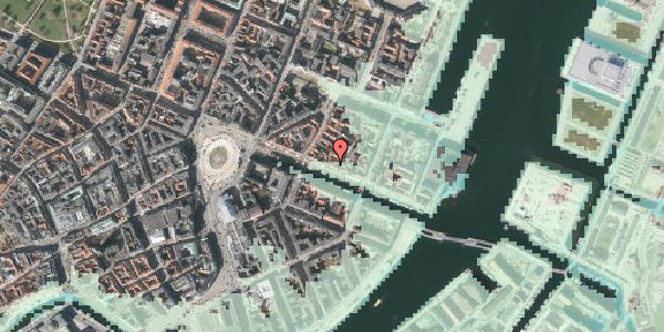 Stomflod og havvand på Nyhavn 33, kl. 1, 1051 København K