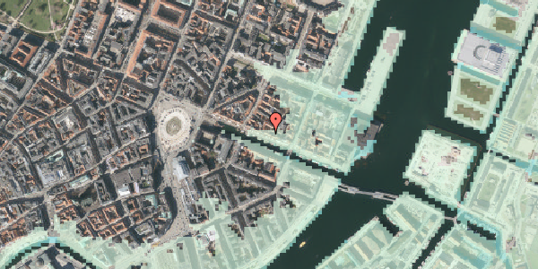 Stomflod og havvand på Nyhavn 35, kl. , 1051 København K