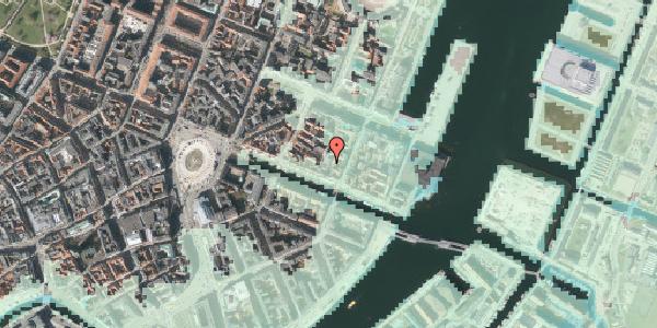 Stomflod og havvand på Nyhavn 43A, kl. , 1051 København K