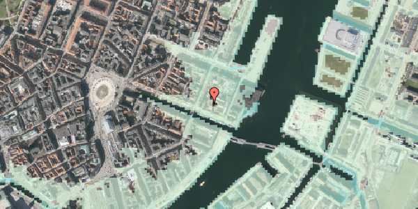 Stomflod og havvand på Nyhavn 57B, st. , 1051 København K
