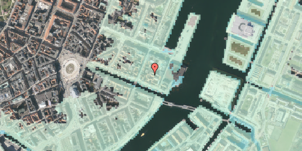 Stomflod og havvand på Nyhavn 63C, 2. 13, 1051 København K