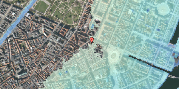 Stomflod og havvand på Ny Østergade 20, 4. tv, 1101 København K