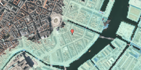 Stomflod og havvand på Peder Skrams Gade 3, kl. , 1054 København K