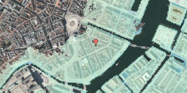 Stomflod og havvand på Peder Skrams Gade 7, kl. 3, 1054 København K