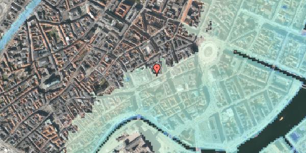Stomflod og havvand på Pilestræde 4, kl. , 1112 København K