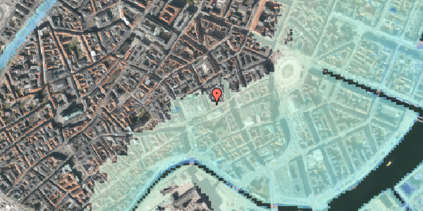Stomflod og havvand på Pilestræde 4, 3. , 1112 København K