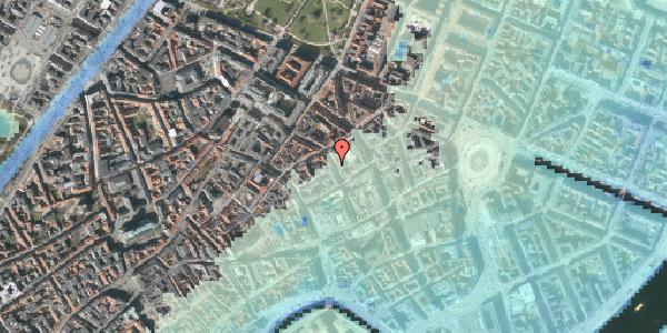 Stomflod og havvand på Pilestræde 29, 3. tv, 1112 København K