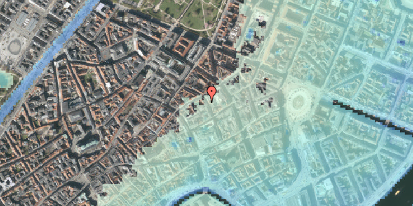 Stomflod og havvand på Pilestræde 33, 1. , 1112 København K