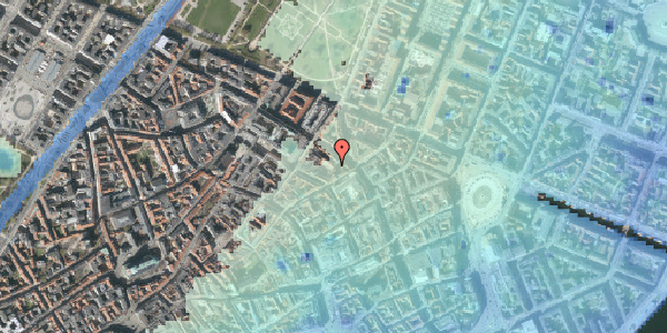 Stomflod og havvand på Pilestræde 40C, 3. th, 1112 København K