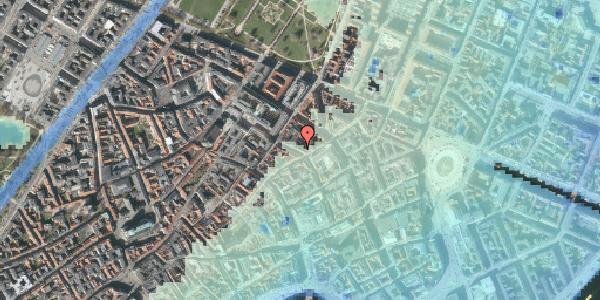 Stomflod og havvand på Pilestræde 44, kl. tv, 1112 København K