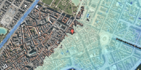 Stomflod og havvand på Pilestræde 44, 1. , 1112 København K