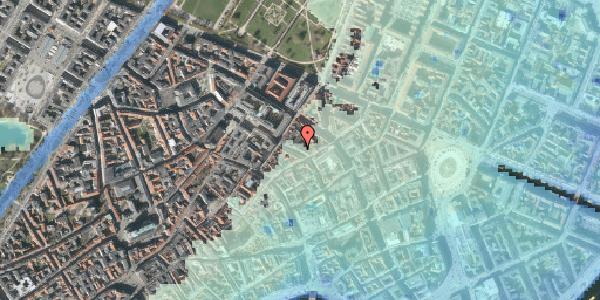 Stomflod og havvand på Pilestræde 46, kl. , 1112 København K