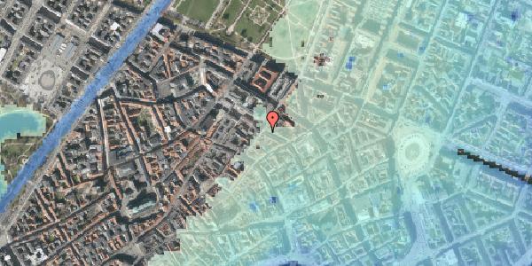 Stomflod og havvand på Pilestræde 47, kl. , 1112 København K
