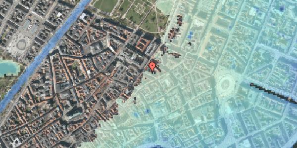 Stomflod og havvand på Pilestræde 50, kl. , 1112 København K