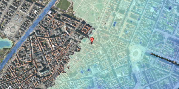 Stomflod og havvand på Pilestræde 52A, 2. tv, 1112 København K