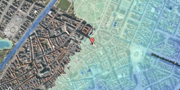 Stomflod og havvand på Pilestræde 52A, 3. tv, 1112 København K