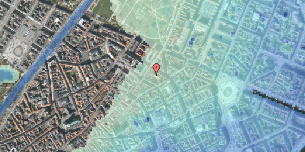 Stomflod og havvand på Pilestræde 52C, 4. tv, 1112 København K