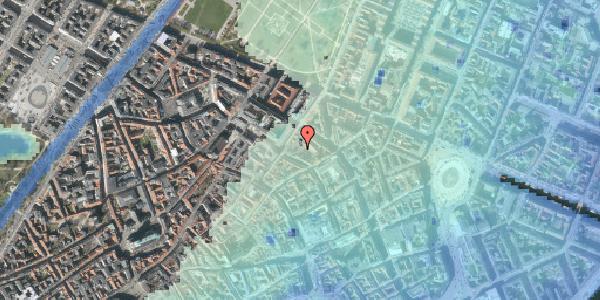 Stomflod og havvand på Pilestræde 52D, kl. , 1112 København K
