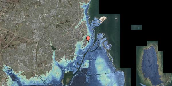 Stomflod og havvand på Rosenborggade 2, 3. tv, 1130 København K