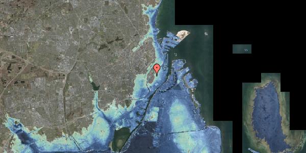 Stomflod og havvand på Rosenborggade 4, kl. th, 1130 København K