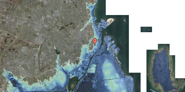 Stomflod og havvand på Rosenborggade 4, 1. th, 1130 København K