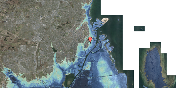 Stomflod og havvand på Rosenborggade 12, kl. tv, 1130 København K