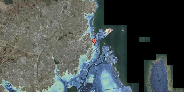 Stomflod og havvand på Rosenvængets Allé 3, kl. , 2100 København Ø