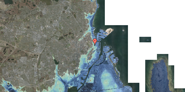Stomflod og havvand på Rosenvængets Allé 3, 2. th, 2100 København Ø