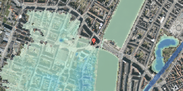 Stomflod og havvand på Rosenørns Allé 8, 3. 1, 1634 København V