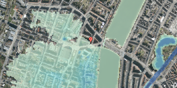 Stomflod og havvand på Rosenørns Allé 10C, 6. th, 1634 København V